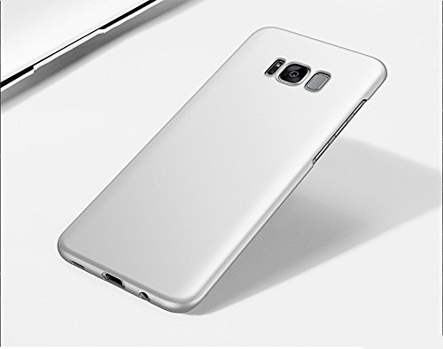Samsung Galaxy S8 Hülle,EinsAcc PC Einfarbig Slim Schutzhülle Hülle für Samsung Galaxy S8 (blau) silver
