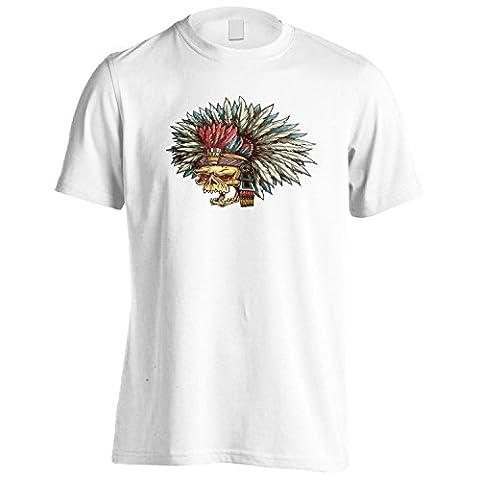 Fantaisie du crâne indien Art vintage Hommes T-Shirt