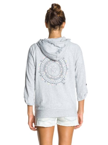 Roxy Light Sluby Screenline Sweat-shirt Femme Héritage Gris - Grey (Heritage Heather)