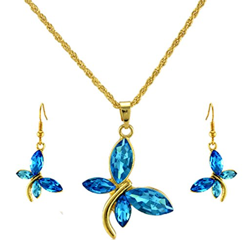 SaySure - Jewelry Sets 18K Gold Plated Austrian Crystal Pendants Necklace