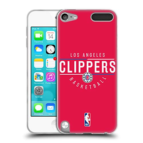 Head Case Designs Offizielle NBA Logotyp 2018/19 Los Angeles Clippers Soft Gel Hülle für Apple iPod Touch 5G 5th Gen