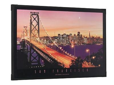 Trio-Leuchten 2556011-00 LED-Bild San Francisco, 6V, 5W, 90 x 60 cm (78 LEDs), Rahmen schwarz von Trio Leuchten - Lampenhans.de