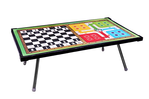 2 in 1 Board Game Table Ludo & Chess Support Table and Multipurpose Table (Woodan Chess & Ludo Foldable Kids Study Table )