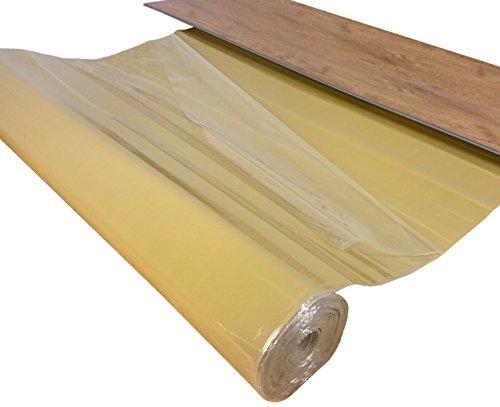 """Vinyl Unterlage""""uficell Vinosound FIX0"""" - Stärke: 1,5 mm - Dichte: 500 kg/m³ - Selbstklebende Trittschalldämmung für 4-5 mm Vinyl-LVT Boden ohne HDF Trägerplatte (10 m²)"""