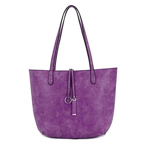 LS2, Borsa tote donna Purple