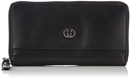 Zip-around Laptop-tasche (GERRY WEBER Piacenza Ladies Purse L 4080002881 Damen Geldbörsen 10x19x1 cm (B x H x T), Schwarz (black))