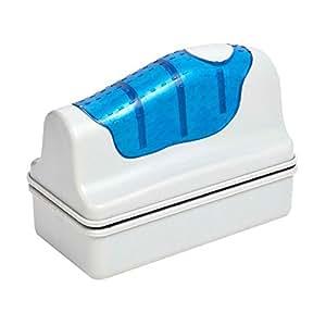 Magnetico acquario pesci serbatoio più pulito magnetismo lavaggio alghe vetro detergente spazzola con Super aspirazione galleggiante spazzola di pulizia fronte-retro per la rimozione di muschio