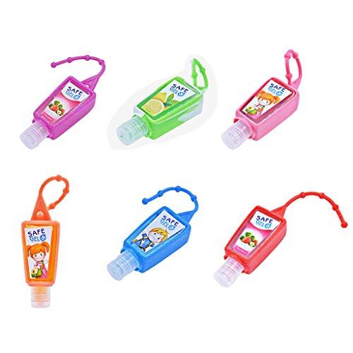 1 PC 30ML Reutilizable Mini Desinfectante de manos Desinfectante Desinfectable No Limpia portátil de viaje Hidratación segura Gel con cuerda colgante (Color aleatorio)