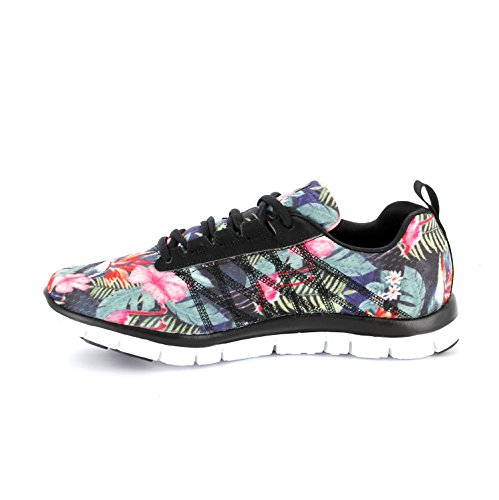 Skechers Flex Appeal - Miracle Worker, Sneakers Basses Femme Noir/multicolore