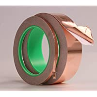 Amyove Copper Foil Tape with Double Guide and Conductive Adhesive for Shielding Against Electromagnetic Interference 3 mm breit und 20 m Lang