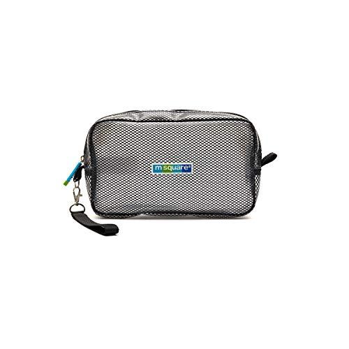 Sac à cosmétiques de voyage multifonction de haute qualité - Boîte de rangement de voyage, Imperméable, Transparent, Portable (Color : Black)