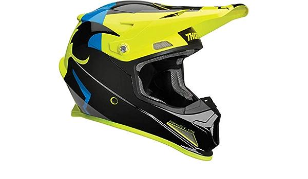 Thor Crosshelm Sector Shear Mx Enduro Motocross Helm Schwarz Neon Gr S Sport Freizeit