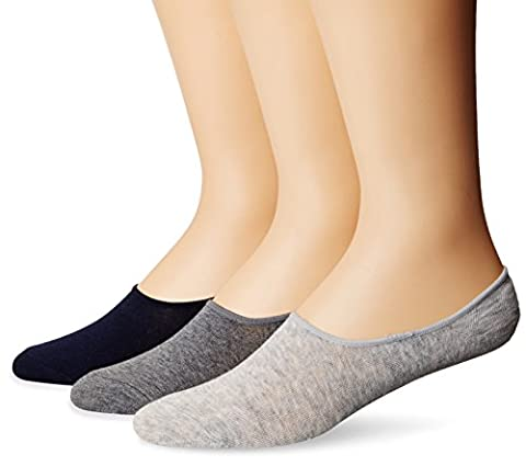 Sperry Top-Sider Men's Solid Canoe 3 Pair Pack Liner Socks, Navy/Charcoal Heather, 10-13/Shoe Size
