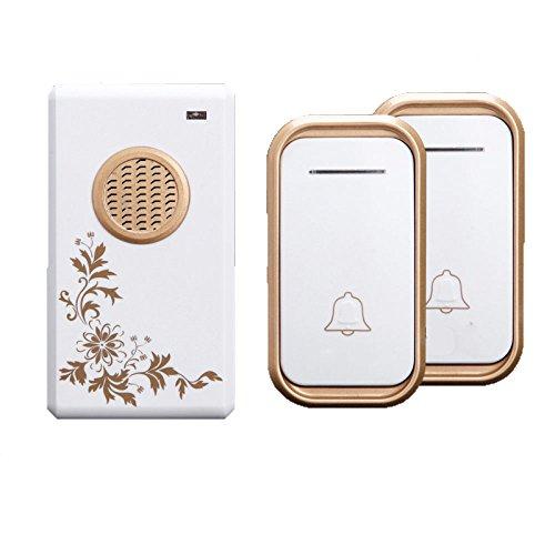 Zaiyi pulsante di chiamata di emergenza campanello senza fili casa ultra-lunga distanza flash elettronico impermeabile telecomando ling vecchio cercapersone,gold2button+1host
