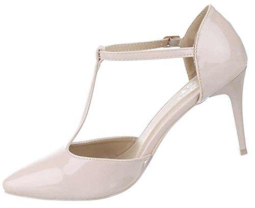 f1d55510f3ad7c DamenSchuhe Pumps Frauen High Heels mit Riemchen und 8 cm ...