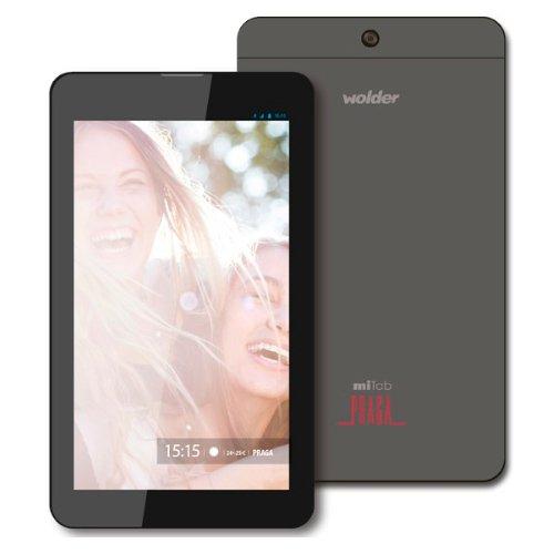 """Wolder D01TB0227 - Tablet de 7"""" (Quad Core A33 a 1.3GHz, 1 GB de RAM, 8 GB, Android 5), gris"""