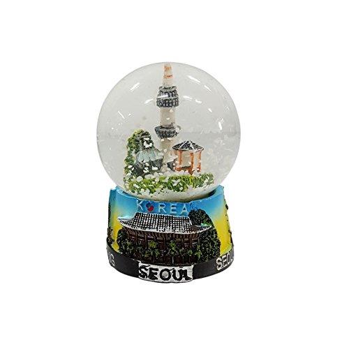 Crystal Design Namsan Seoul Tower Snow Globe Korea Miniatur-Gebäude Kleine Mehrfarbig -