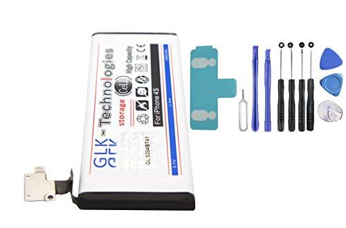 -35% NUR Kurze Zeit !! Neulieferung Südkorea Technologie !! Original GLK-Technologies® // Akku mit 1460 mAh kompatible mit iPhone 4S // inkl. Werkzeug Set Kit