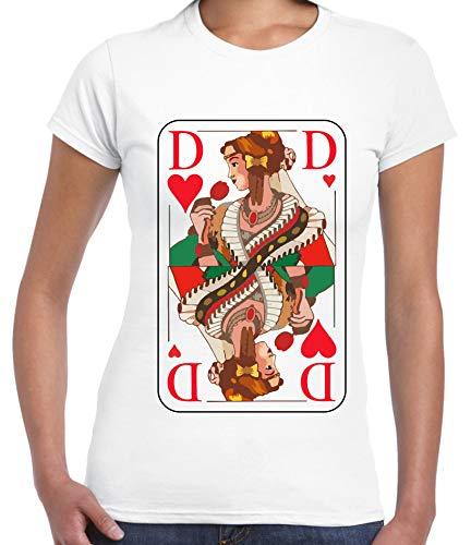 aprom Pärchen T-Shirt König Dame Kostüm Gruppenkostüm Karneval JGA Valentinstag KD Herz (XL, Dame - Frauen) (Prinz Der Herzen Kostüm)