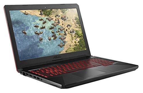 ASUS TUF FX504GE 90NR00I1-M05570 39,6 cm (15,6 Zoll Full-HD Matt) Gaming Notebook (Intel Core i7-8750H, 16GB RAM, 256GB SSD, 1TB HDD, NVIDIA GTX1050Ti (4GB), Windows 10) schwarz