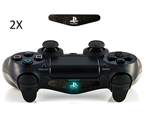 Produktbild giZmoZ n gadgetZ GNG 2 x Playstation Logo Skin- / Decal-Aufkleber für LED-Lichtleiste des Controllers DualShock 4 für Playstation 4 PS4