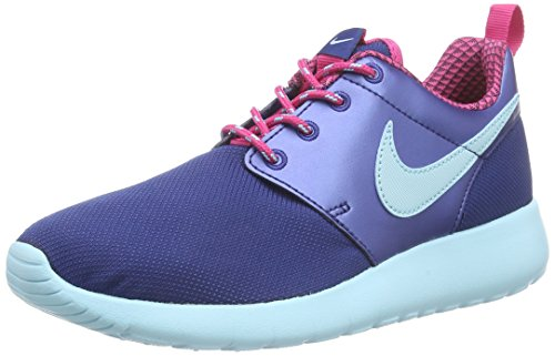 Nike Rosherun, Chaussures de Running Mixte Enfant Bleu (insignia Blue/copa/vivid Pink)
