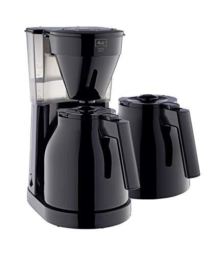Melitta 1023-061 Cafetière à Filtre Isotherme et Seconde verseuse, Easy Therm II, Noir, Plastique, 1 Liter