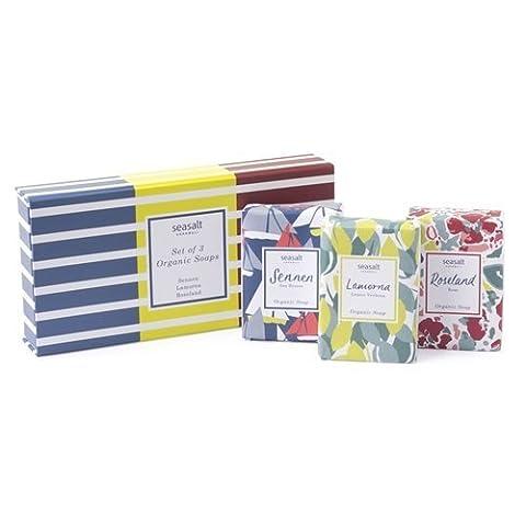 Seasalt 3 x 100g Organic Soap Bars Gift Set
