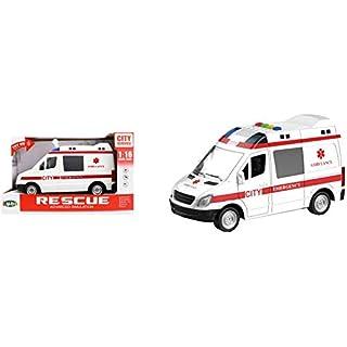 Luna Rettungswagen Krankenwagen mit Licht und Soundeffekt Einsatzfahrzeug +3J