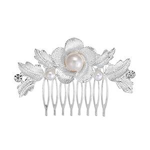 Damen Mädchen Haarkamm Brautschmuck Hochzeitsaccessoires Blumen Feder mit Perlen Strass Legierungen Elegant Haarschmuck Plattenhaare Kamm Sommer Kopfschmuck