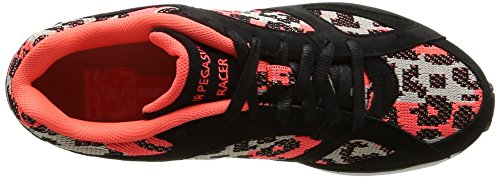 Nike - Air Pegasus New Racer Pa, Pantofole Uomo (Black/Blanc-Hot Lava-Lnr Grey)