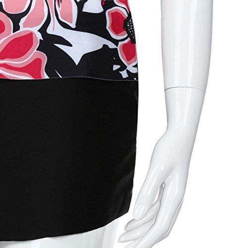 Maillot de Bain Femme 2 Pieces ❤️ Femmes Plus Taille Bikini Deux Pièces D'Impression Maillots de Bain Push-Up Rembourré ❤️ 1 centime Produit red