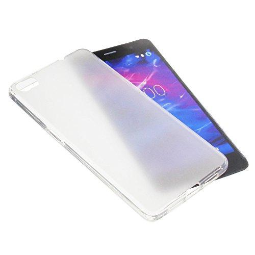 foto-kontor Tasche für MEDION Life S5004 Gummi TPU Schutz Handytasche transparent weiß