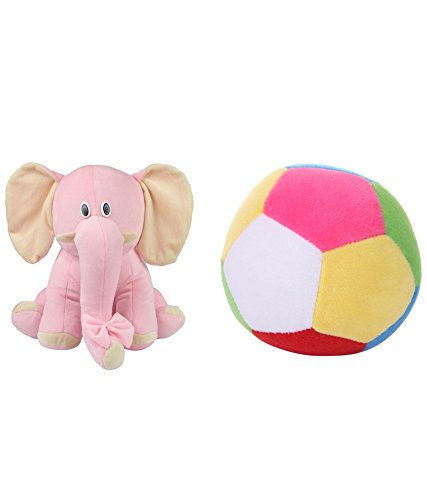 Deals India Pink Elephant And Mini Ball Combo  available at amazon for Rs.219
