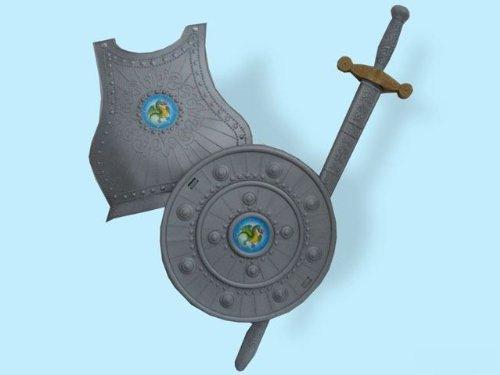 Kostüm Kind Max Steel - Unbekannt Giplam Rüstung-Set, Spielzeug, 76x 30cm, 3-teilig, Einheitsgröße