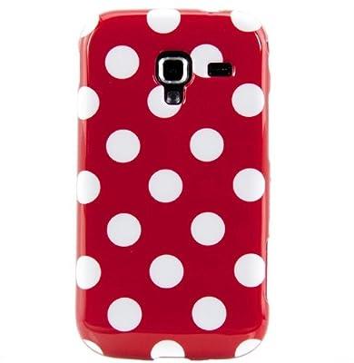 Silikon Polka Dots Hülle Hüllen Schutzhülle Tasche Etui Protection Case Protective Cover Für Samsung Galaxy Ace 2 i8160 Rot Und Weiß von Atechport bei Lampenhans.de