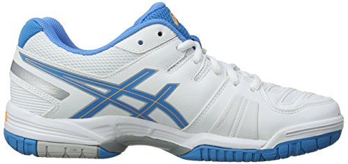 Asics Gel-game 5, Damen Tennisschuhe Weiß (white/soft Blue/nectarine 0141)