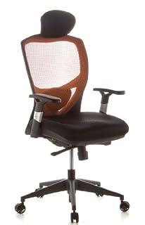 hjh OFFICE 657120 VENUS BASE Silla de oficina asiento tejido / respaldo en malla naranja / negro (B004G93CO2)   Amazon Products