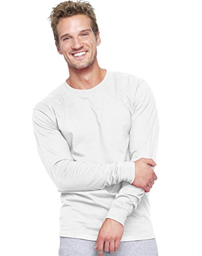 hanes-mens-beefy-long-sleeve-t-61-oz-white-size-l