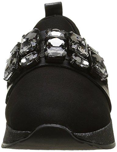 Bronx Shimmer, Baskets Basses Femme, 36 EU Noir - Schwarz (Black/Gunmetal 188)
