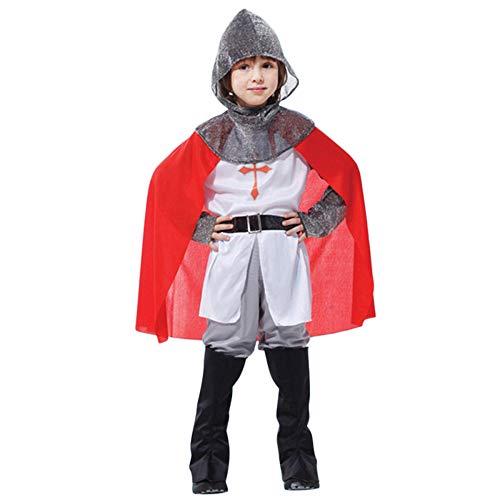 nihiug Halloween Kinder Eltern-Kind Kostüm Römischer Krieger Kreuzritter Cosplay Männliche Kreuzritter Leistung,Warrior-M (Männliche Krieger Kostüm)