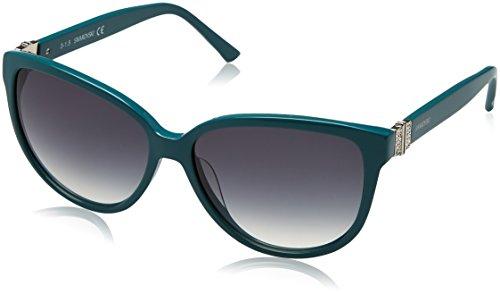 Swarovski sk0120-5687p, occhiali da sole donna, turchese (shiny turquoise), 56