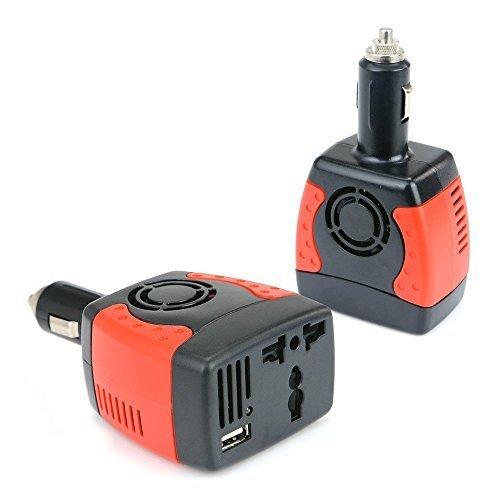 BESTEK Convertisseur Chargeur Allume Cigare Onduleur Transformateur avec un Port USB, 150W 12V 220V - Prise Universelle