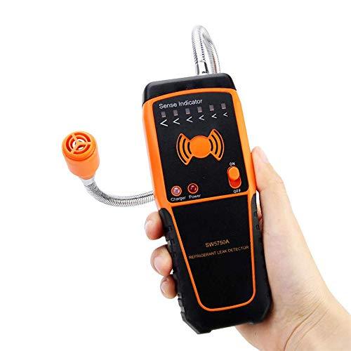 YSYDE Halogen-Gasdetektor, hochempfindlicher Sensor, Doppelalarm für Ton und Licht. Der tragbare intelligente Gasleckdetektor ist stabil und dient zur Erkennung von Klimaanlagen -
