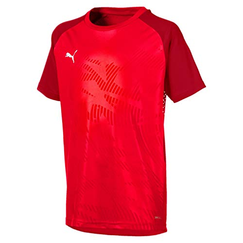 PUMA Kinder Cup Training Jersey Core Jr Trikot, Red-Chili Pepper, 164