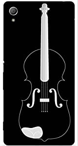 Violin Printed Back Cover Case For Sony Xperia Z3 Plus