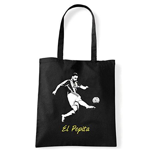 Art T-shirt, Borsa Shoulder El Pepita, Shopper, Mare Nero