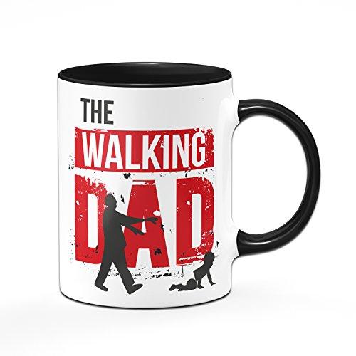 THE WALKING DAD Tasse - Kaffetasse - Geschenke für Papa - schwarz/rot