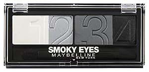 Maybelline New York Lidschatten Eyestudio Quattro Palette Smokey Star 19 / Eyeshadow Set in Grau Tönen (inkl. Präzisions-Applikator) 1 x 5 g