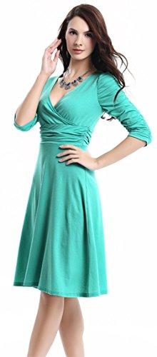 U-shot - Robe - Manches Courtes - Femme 36-38,38-40,40-42,42-44,44-46 vert mer